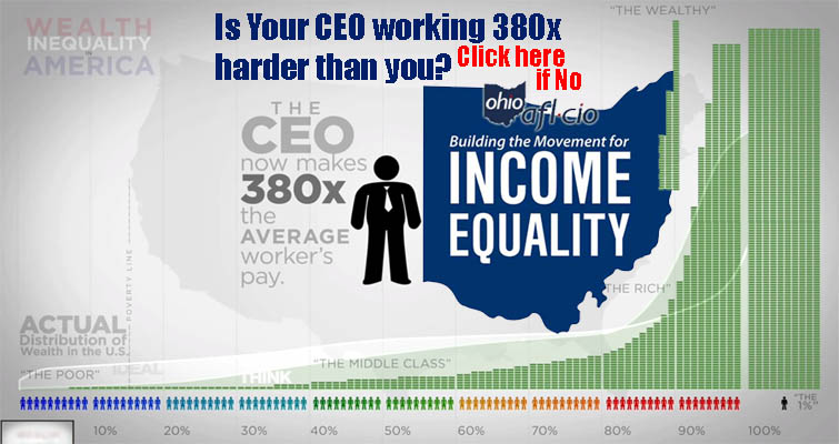 Ohio CEOs Paid 290 Times More Than The Average Rank-and-File Worker