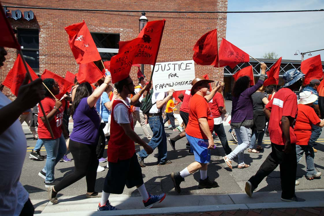 FLOC Members & Activists March On Reynolds American May 7, 2015!