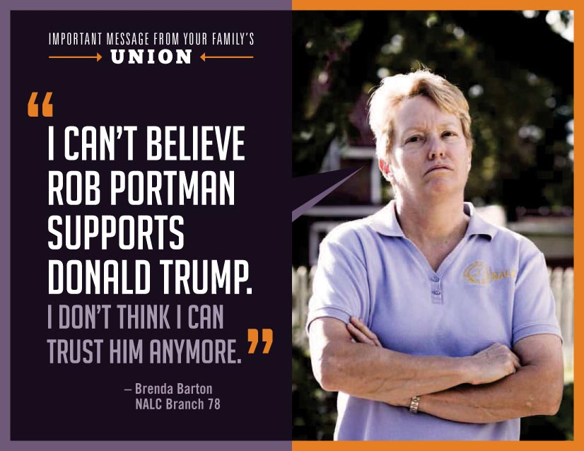"Letter Carrier Puts It In The Mail: ""I Can't Believe Rob Portman Supports Donald Trump"""