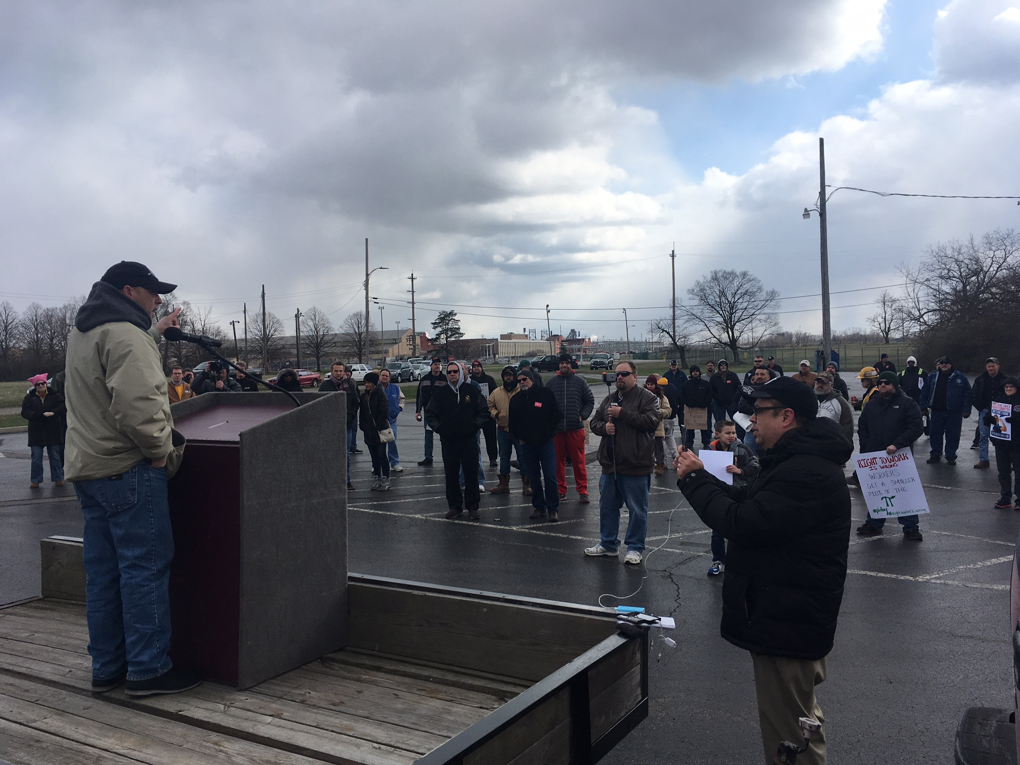 Machinists Union Hosts Rally To Stop Right To Work Is Wrong