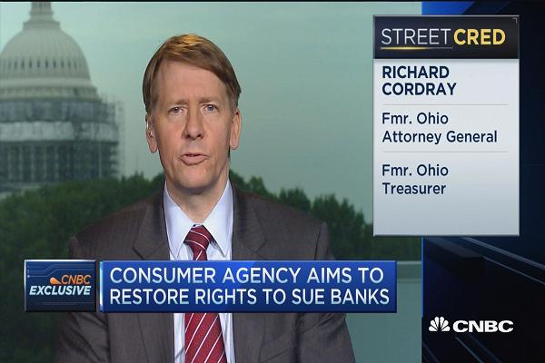 Ohio's Richard Cordray, Head Of The @CFPB: Let Consumers Sue Companies