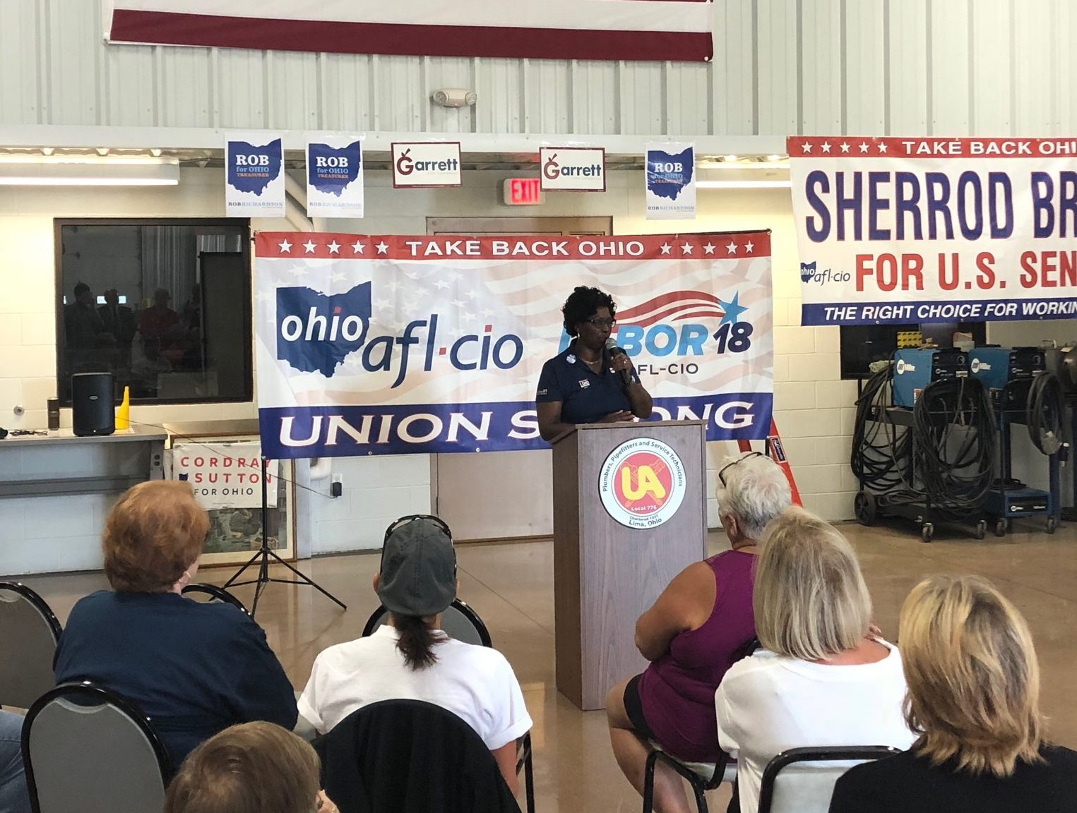Ohio AFL-CIO Holds Rally In Lima With Endorsed Candidate Rob Richardson