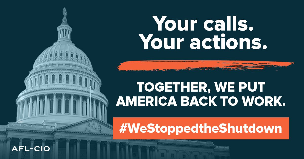 Our Collective Action Ended The Shutdown