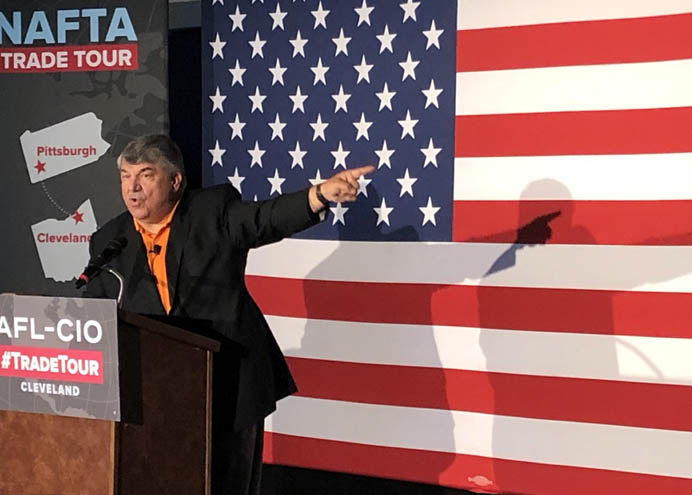 AFL-CIO's Richard Trumka Laughs At Trump's Suggestion Unions Love New Trade Deal