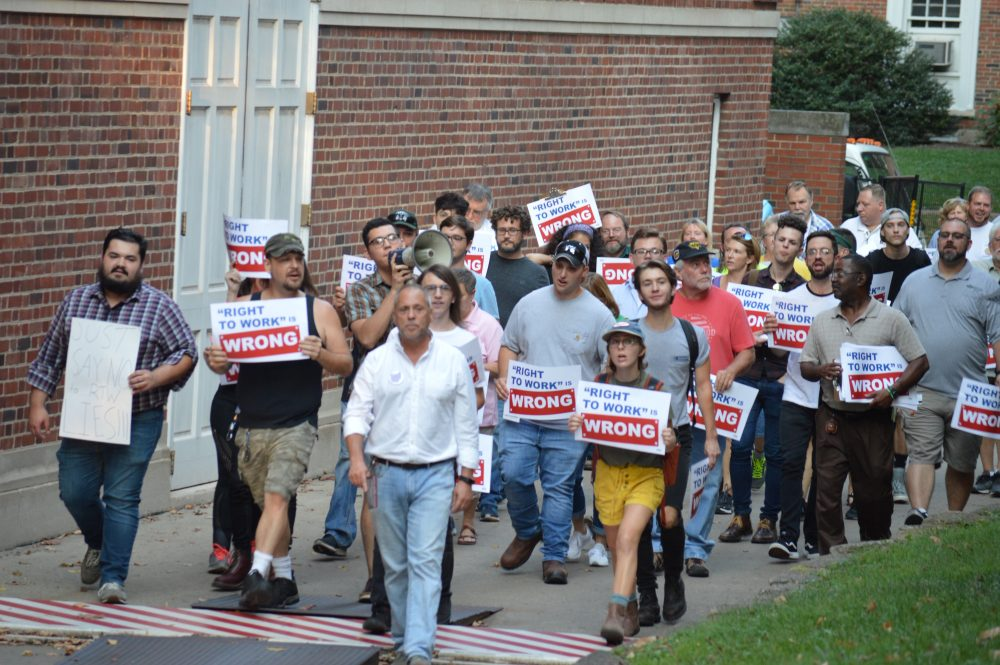 'Right To Work' Figure At OU Draws Protest On Campus