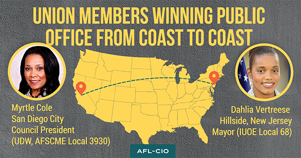 Building The Battleground Bench: Union Members Elected To Office Across The Great Lakes Region